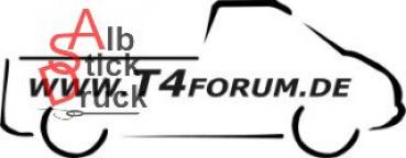 Aufkleber T4Forum rechts - Einzelkabine