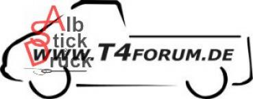 Aufkleber T4Forum links - Einzelkabine