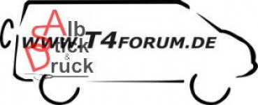 Aufkleber T4Forum rechts - Syncro langer Radstand