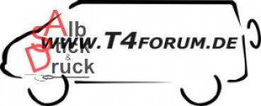 Aufkleber T4Forum links - Syncro langer Radstand