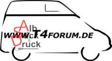 Aufkleber T4Forum rechts - Malibu langer Radstand