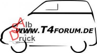 Aufkleber T4Forum links - Malibu langer Radstand