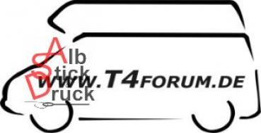 Aufkleber T4Forum links - Hochdach Exclusive LR