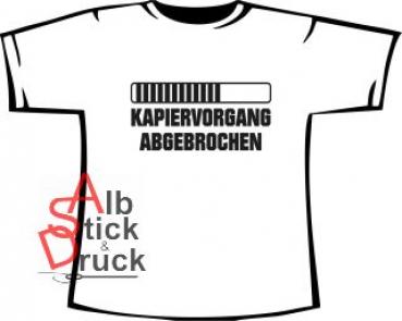 KAPIERVORGANG ABGEBROCHEN