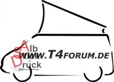Aufkleber T4Forum links - Aufstelldach offen