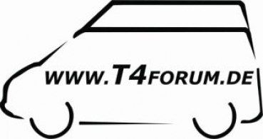 Aufkleber T4Forum links - Serienhochdach