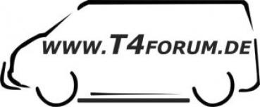 Aufkleber T4Forum links - Frontbügel + Schwellerrohre