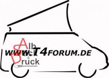 Aufkleber T4Forum rechts - Aufstelldach offen