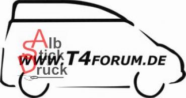Aufkleber T4Forum rechts - Kompaktdach