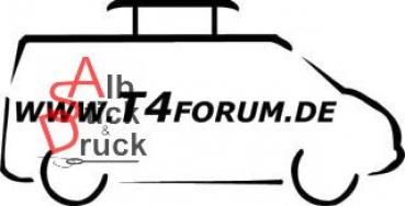 Aufkleber T4Forum rechts - Pilzhubdach