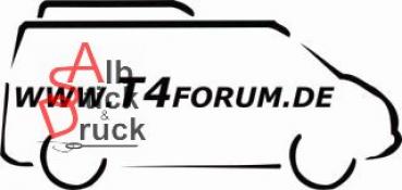 Aufkleber T4Forum rechts - Dachbox