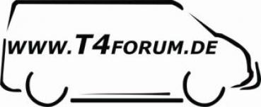 Aufkleber T4Forum rechts - Frontbügel + Schwellerrohre
