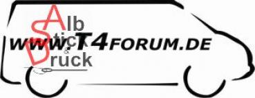 Aufkleber T4Forum rechts langer Radstand