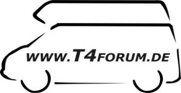 Aufkleber T4Forum links - Hochdach Exclusive LR
